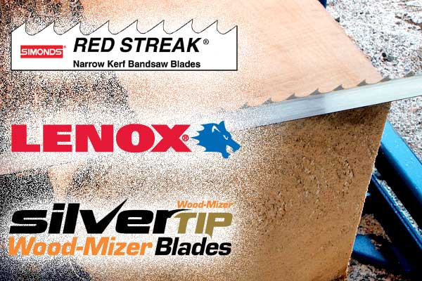 Offering the best blades in the industry, Simonds, Lenox & Wood-Mizer.